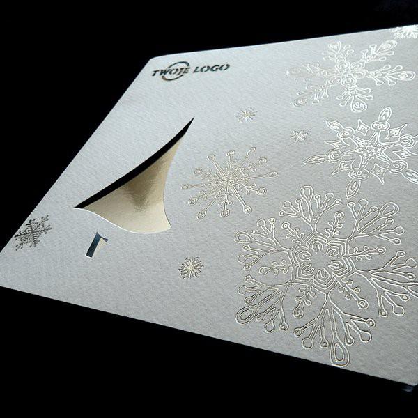 Elegancka firmowa kartka świąteczna na Boże Narodzenie - model K516