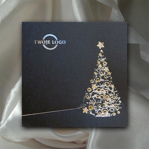 Elegancka firmowa kartka świąteczna na Boże Narodzenie - model K523
