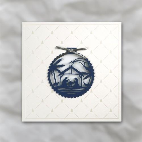 Modernistyczne Charytatywne kartki świąteczne z logo firmy - galeria 4 EU87